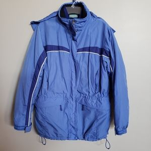 LL BEAN L water resist 3 in 1 jacket system blue
